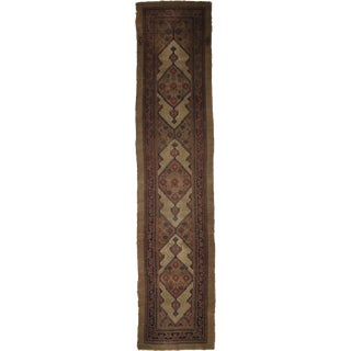 """Hand Knotted Antique Sarab Runner - 17'4"""" X 3'7"""""""