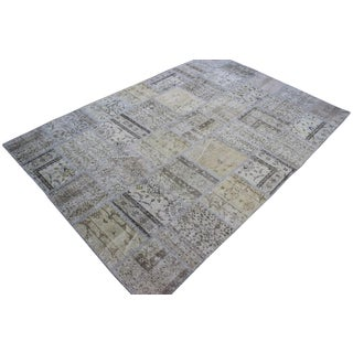 "5'9"" X 8'8"" Vintage Turkish Patchwork Area Rug"