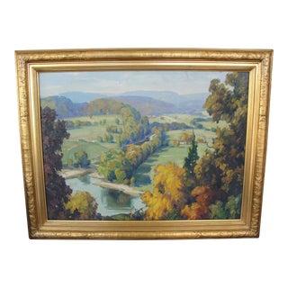 Vintage Impressionist Landscape on Board Signed