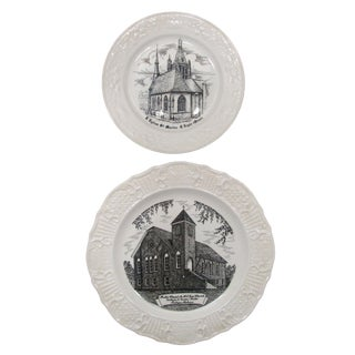 Vintage French & Tuskegee, Alabama Church Plates, A Pair
