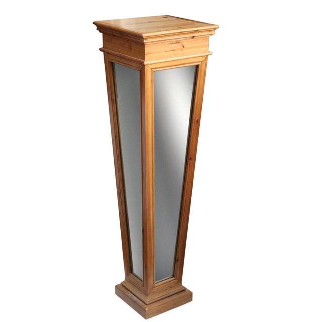 Wooden Mirrored Storage Pedestal - Image 3 of 8