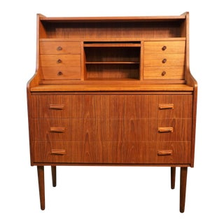 "Danish Modern Teak Secretary Dresser - ""Knud"""