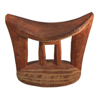 Traditional Ethiopian Headrest Sculpture