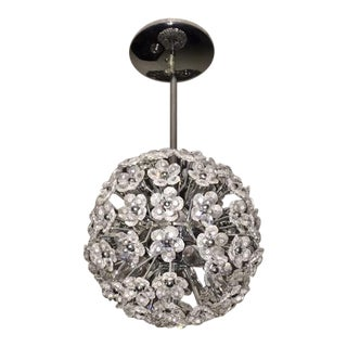 Crystal Flower Sphere Pendant Light