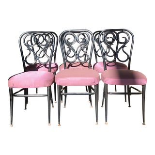 1950s Metal Bistro Chairs - Set of 6