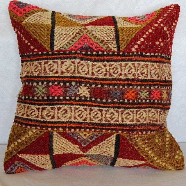 "Kilim Pillow Handmade Pillowcase Boho Chic Vintage - 16"" x 16"" - Image 2 of 7"