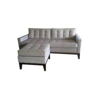 Thereapy Couch And Ottoman Set