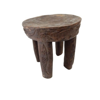 African Carved Milk Stool