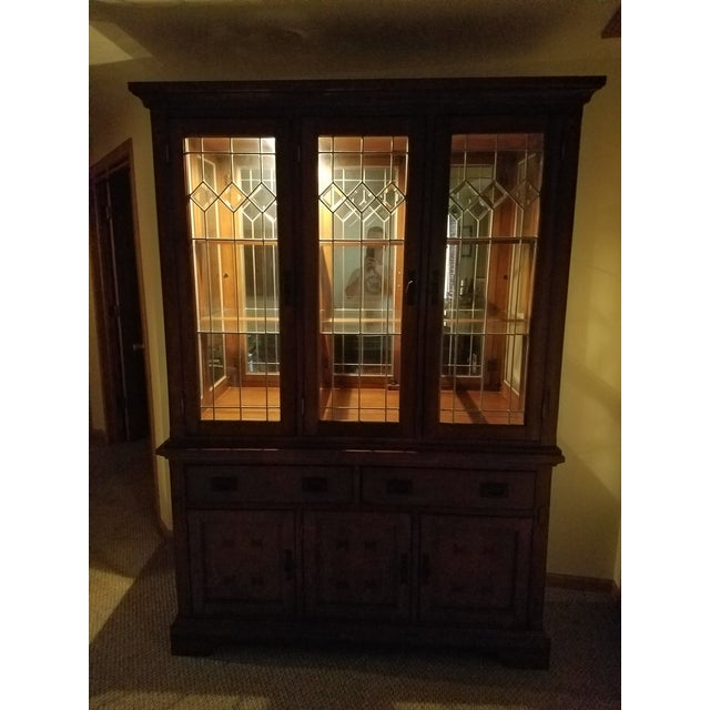 Wooden China Cabinet - Image 9 of 11