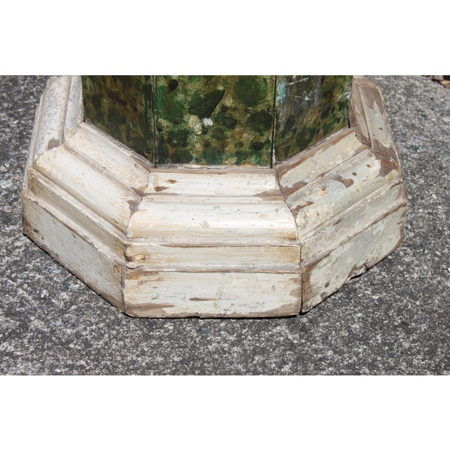 19th C. Faux Painted Stand/Pedestal - Image 7 of 7