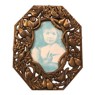 Bird & Pears Metal Picture Frame