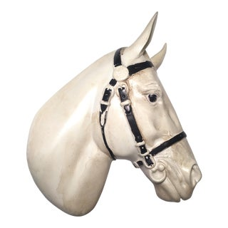Ceramic Bridled Horse Wall Hanging
