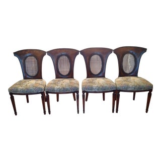 Vintage Neoclassical Style Dining Chairs - Set of 4