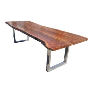 Handcrafted Acacia Wood Live Edge Dining / Office Table