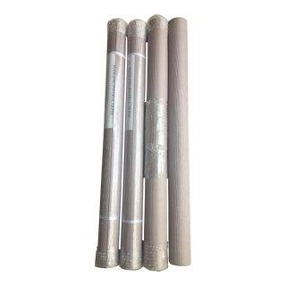 Lavender Grasscloth Wallpaper Rolls - Set of 4