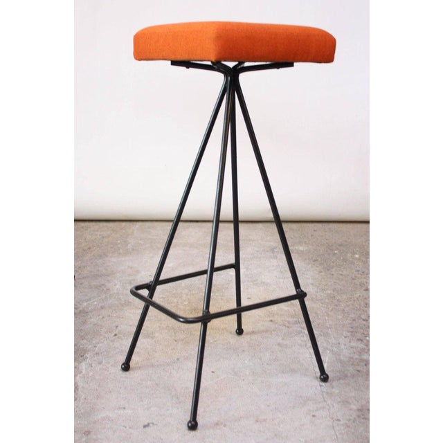 Set of Four Adrian Pearsall #11 Iron Barstools - Image 6 of 11