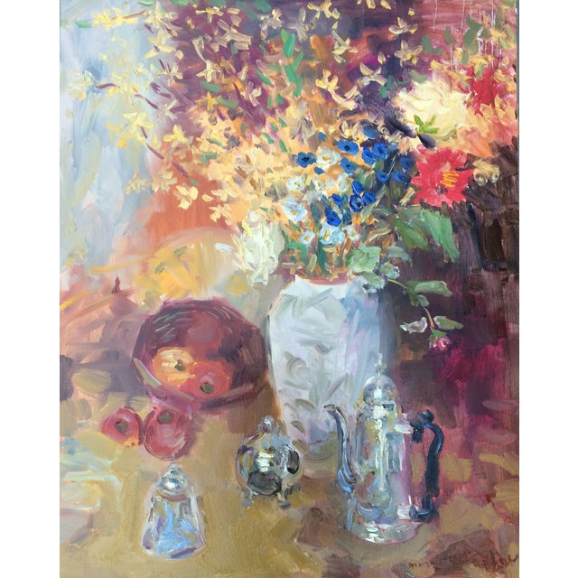 Murat Kaboulov Still Life - Flowers Fruit & Teapot - Image 1 of 3