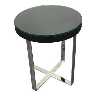 Oly Studio Chrome & Espresso Finish Side Table