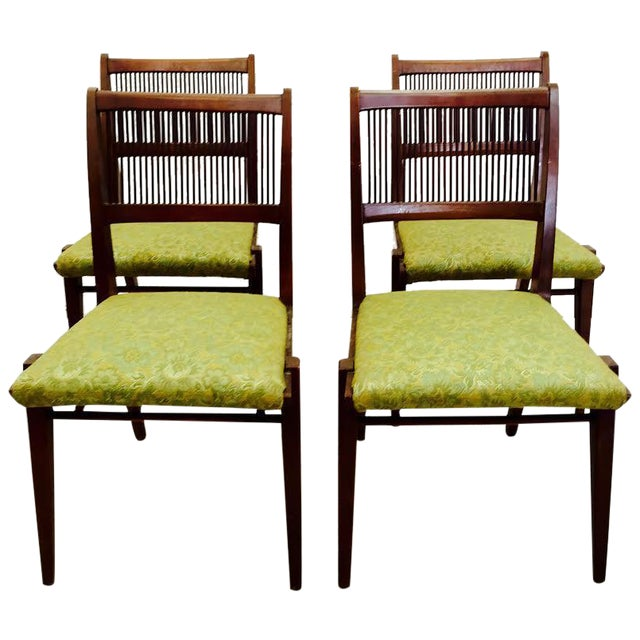 Mid century modern dining chairs by drexel 4 chairish for Modern dining chairs ireland