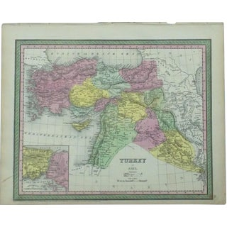 Map of Turkey & Constantinople by Cowperthwait, 1850