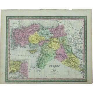 Map of Turkey & Constantinople by Cowperthwait, 1850