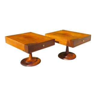 Mid-Century Wood End Tables - A Pair
