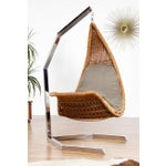 Image of Studio Created Hanging Wicker and Chrome Chaise