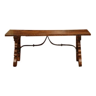 19th Century Spanish Carved Walnut Coffee Table