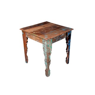 Wooden Square Side End Table