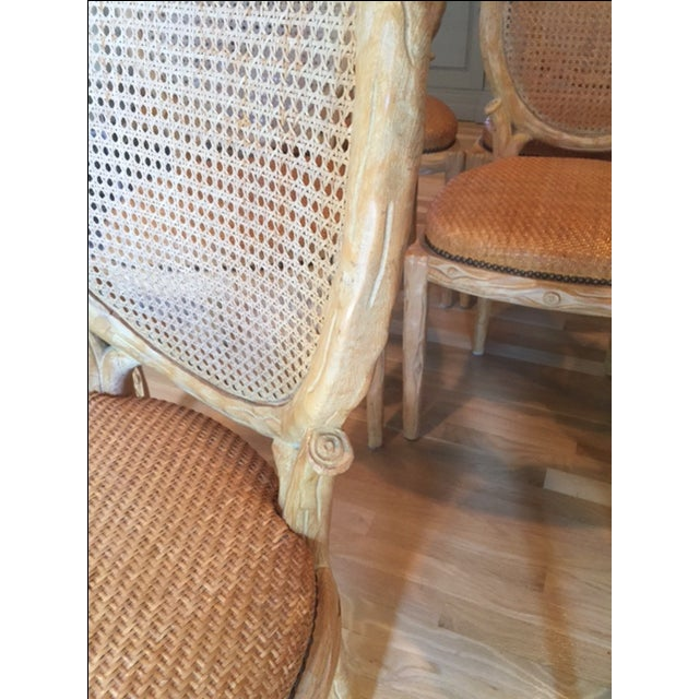 Faux Bois Dining Chairs - Set of 8 - Image 5 of 6