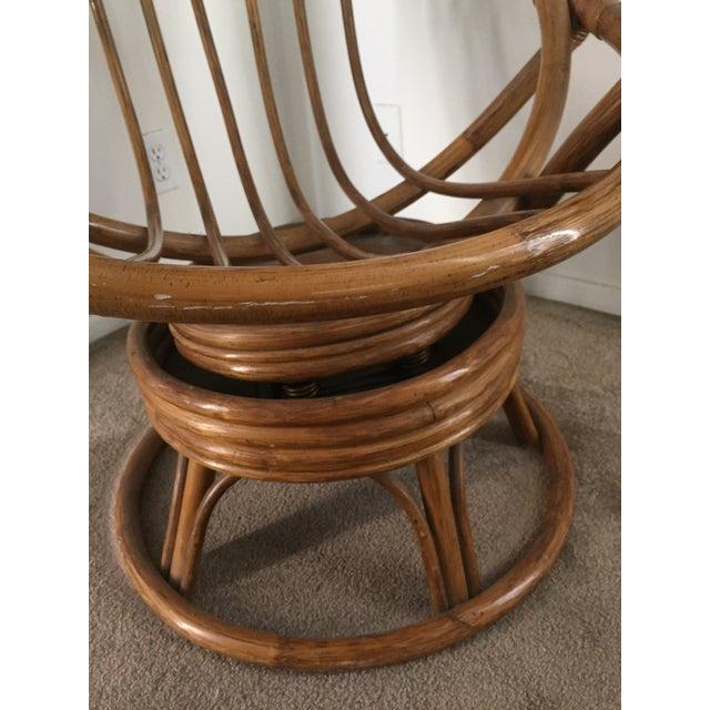 Vintage Rattan Swivel Chair - Image 7 of 10