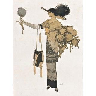 French Art Deco Women's fashion print