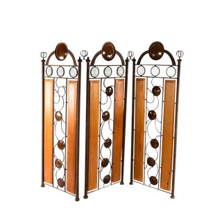 Iron & Wood Room Divider