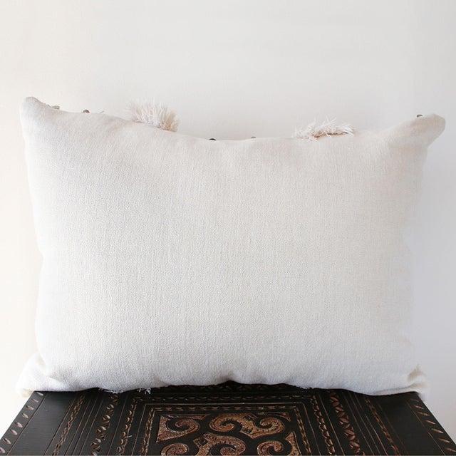 Moroccan Handira Wedding Blanket Pillow VII - Image 4 of 8