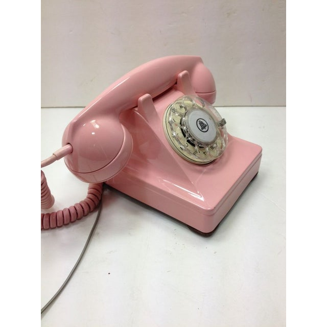 Image of Pink Western Electric Lucy 302 Rotary Dial Phone