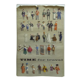 "Jerome Kuhl ""Time for Travel"" Vintage Poster"