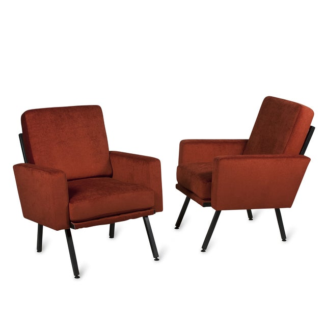 Image of Guariche Style Armchairs, French 1950s - Pair