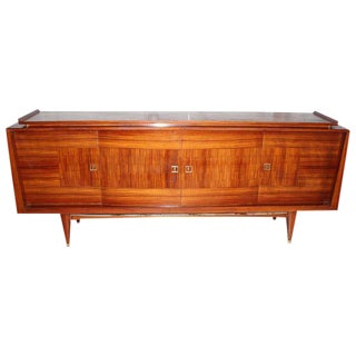 Beautiful French Art Deco Light Macassar Ebony Sideboard / Buffet Circa 1940s