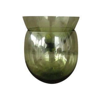 Green Mid-Century Morgantown Shrimp Cocktail Glass