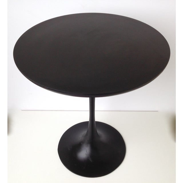 Image of Eero Saarinen Black Tulip Pedestal Side Table