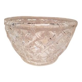 Tiffany & Co. Bamboo Crystal Bowl