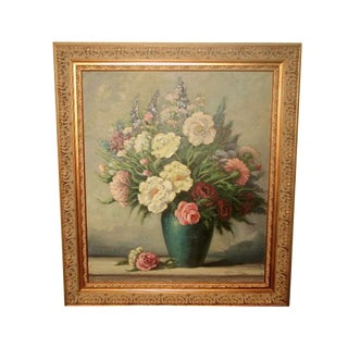 Original Floral Oil Painting, Signed