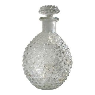 Hand Blown Hobnail Glass Decanter