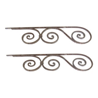 Antique Victorian Iron Gate Architectural Salvage - A Pair