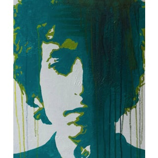 Green Dylan Acrylic Painting by Laura Lamour