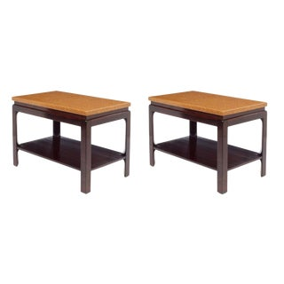 Paul Frankl Cork Top End Tables - a Pair