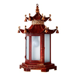 Red & Gold Chinoiserie Lantern