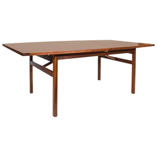 Handsome Walnut Dining Table by Jens Risom