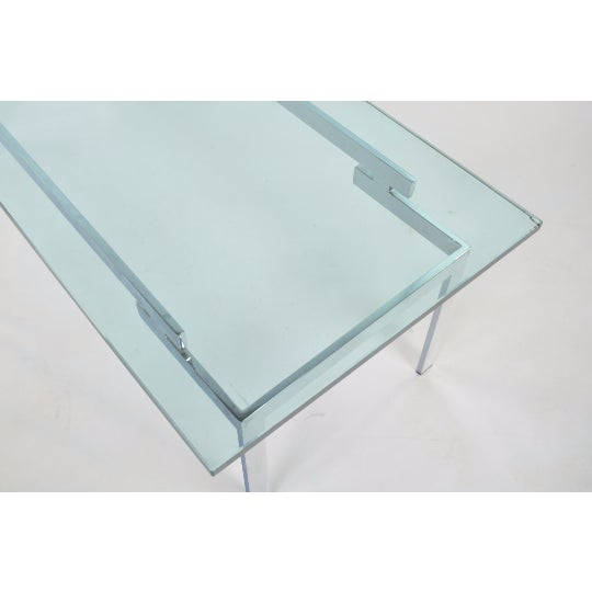 Glass Coffee Table Chrome Base: Glass & Chrome Staggered Base Coffee Table