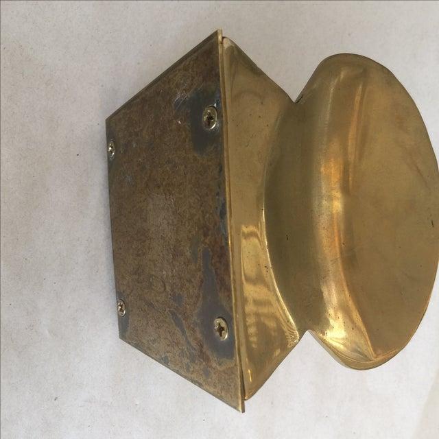Image of Vintage Brass Shell Letter Holder